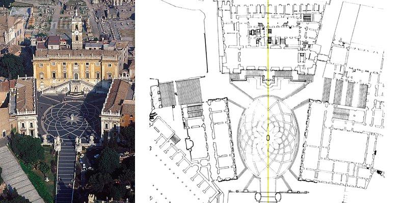 Piata capitoliului - Roma.